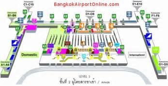 Car Rental Companies Bangkok Airport Terminal Map Level 2 Arrivals Suvarnabhumi Airport