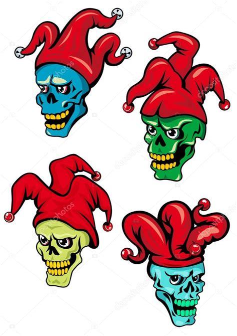 imagenes de calaveras joker dibujos animados de calaveras de payaso y joker vector