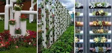 Pvc Pipe Vertical Garden Diy Vertical Pvc Planter Home Design Garden