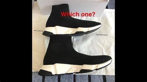 vs real review balenciaga speed trainer sock race runners