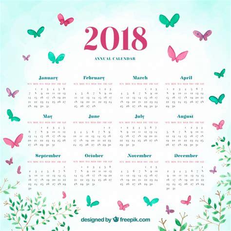 Vector Calendar 2018 2018 Calendar Vector Free