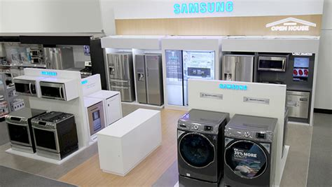 stores that sell kitchen appliances best buy rolls out mini shops for samsung appliances