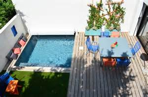 petit jardin mini piscine diaporama photo