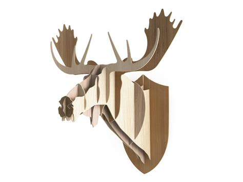Moose Wall Decor by Wooden Wall Decor Item Moose By Moustache Design Big