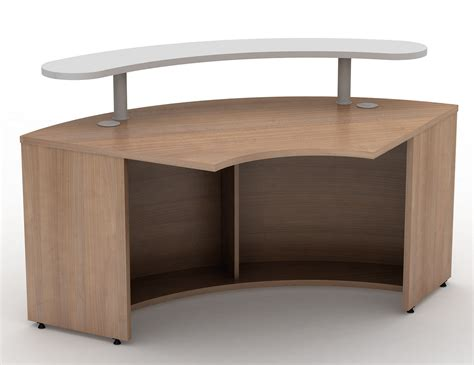 Curved Reception Desk Curved 1200mm Reception Desk With Shelf Avalon Reality