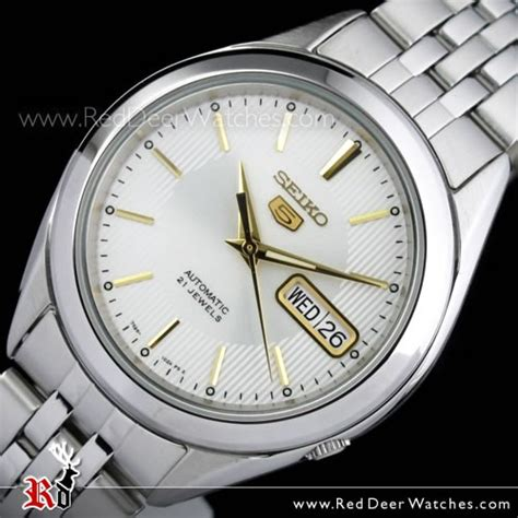 Automatic Silver List White buy seiko 5 automatic white gold mens see thru back snkl17k1 snkl17 buy watches