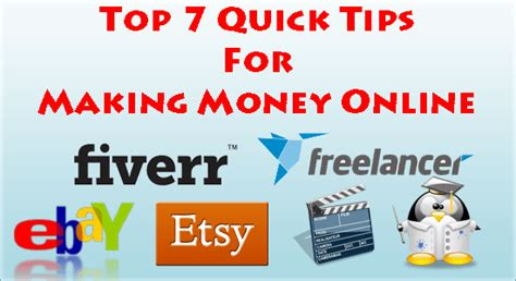 Best Money Making Ideas Online - top 7 quick tips for making money online exeideas let