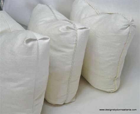 mock boxed pillows with various corner styles www