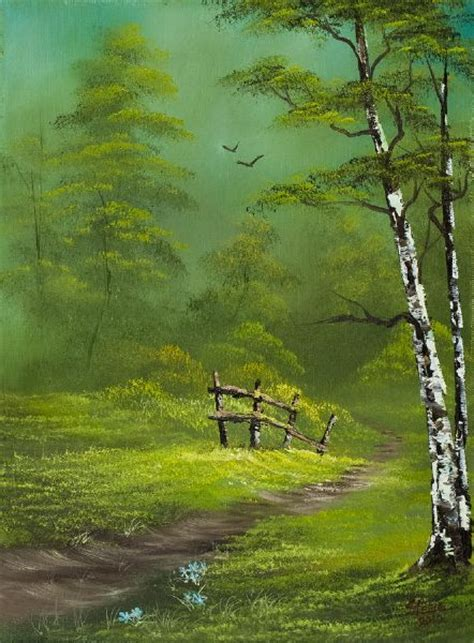 green paint sles bob ross quiet trail paintings bob ross pics to paint