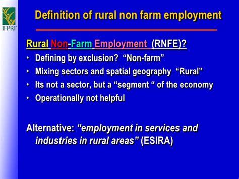 rural  farm employment   jobs