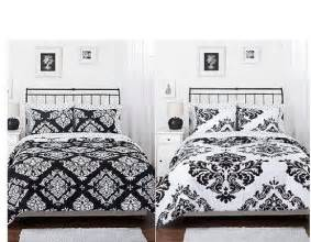 Black And White Comforter Sets Full Black White Damask Reversible Girls Teens Full Comforter Set