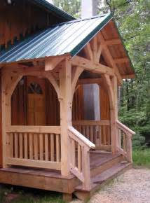 Driveway Awnings Timber Frame Entrances Created In South Carolina By Moresun