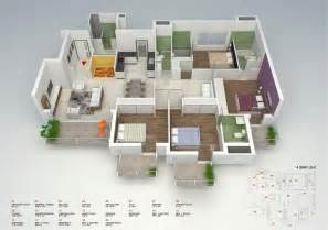 Two Bedroom Floor Plans House 50 four 4 bedroom apartment house plans architecture