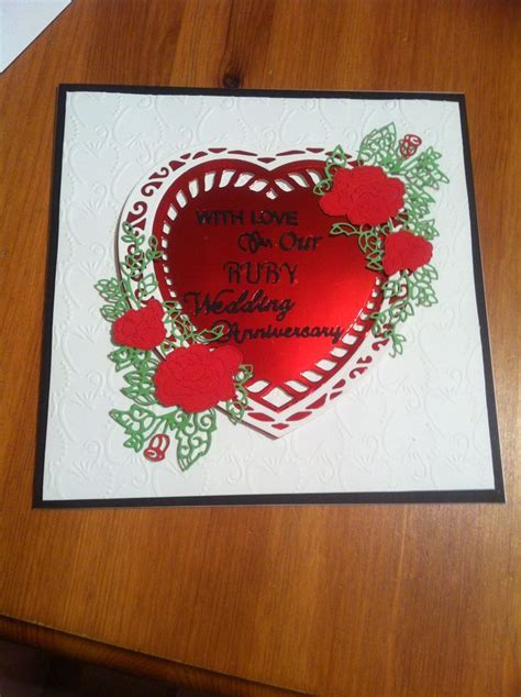 Ruby Anniversary Cards For Husband