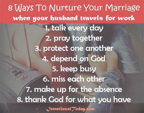 8 Ways To Your Husband by 8 Ways To Nurture Your Marriage When Your Husband Travels