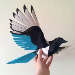 Flying bird paper model