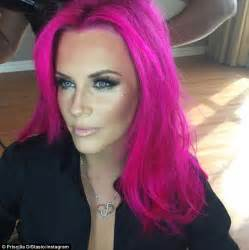 middle aged women who dye their hair magenta jenny mccarthy debuts pink hair on instagram before