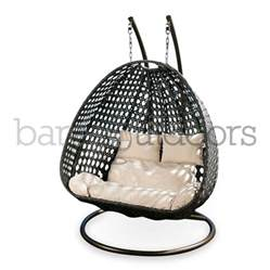 pod hanging chair seater hanging pod chair bare outdoors