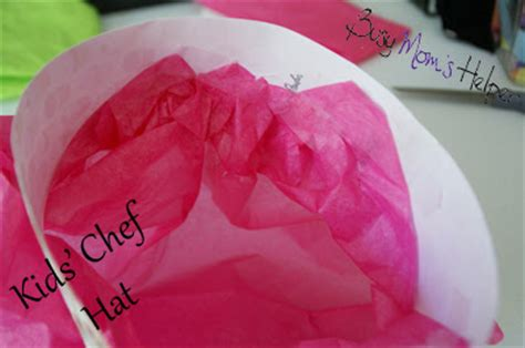 How To Make A Chef Hat With Tissue Paper - chef hats busy helper