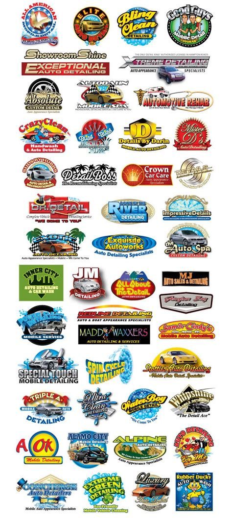Auto Detailing Logo Ideas by Auto Detailing Business Logos Detail King