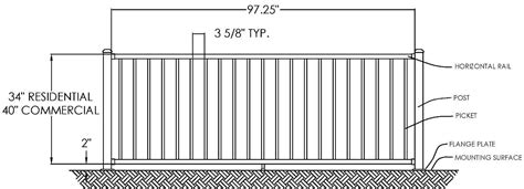 irc section 262 chicago railing heavy duty black aluminum railing