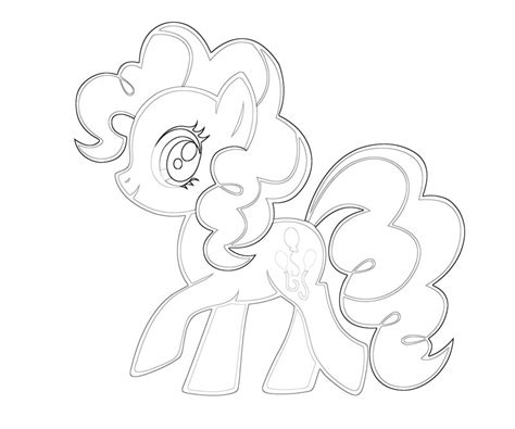 pinkie pie coloring page coloring home