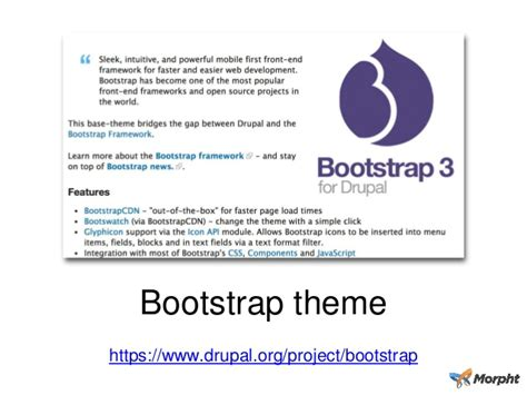 bootstrap themes getbootstrap using bootstrap in drupal 7