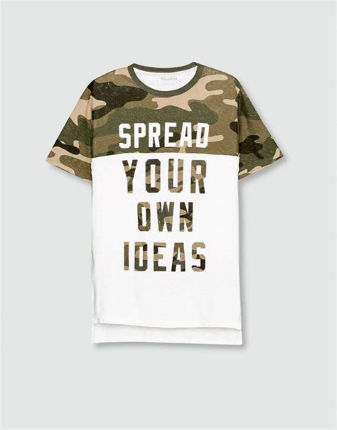 Army T Shirt Pull camouflage print t shirt t shirts pull