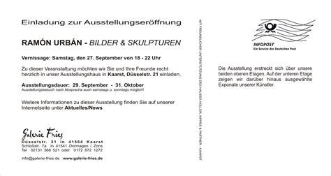 Muster Einladung Ausstellung Text Einladungskarte Cloudhash Info