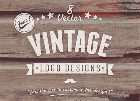 8 Advantages Of Vintage Style by 8 Free Customizable Vector Vintage Style Logo Designs