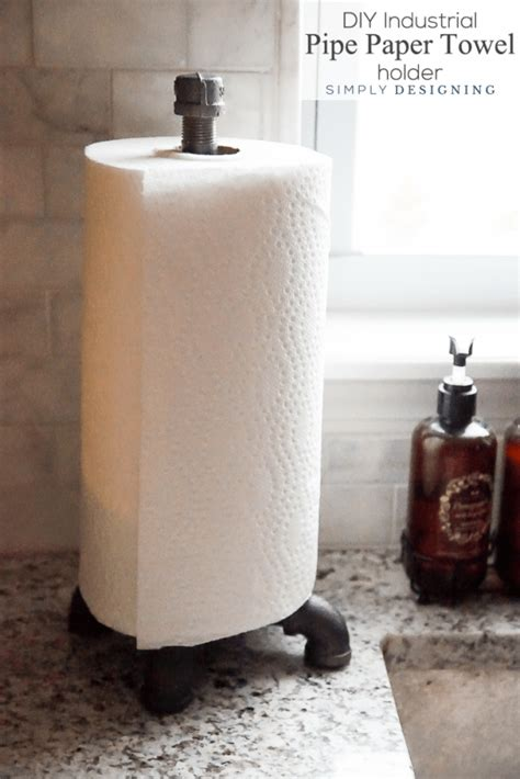 How To Make A Paper Towel Holder Out Of Wood - diy industrial pipe light fixture