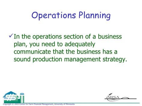 business plan operations section operations plan
