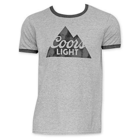 coors light t shirt amazon coors light grey and black ringer tee shirt