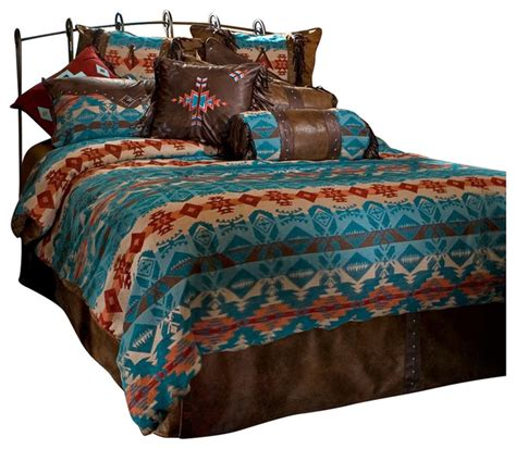 Southwestern Bedding Sets Turquoise Chamarro Bedding Set Southwestern Bedding By Carstens