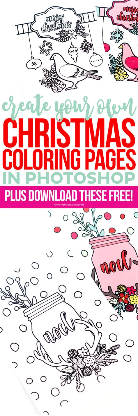 make a coloring book page with photoshop learn to create christmas coloring pages in photoshop