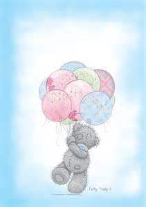 tatty teddy balloons a5 customised greeting card
