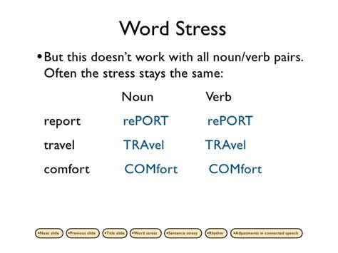 noun for comfortable suprasegmentals part 1 2nd ed