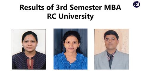 Rc College Mba Fees by 3rd Semester Rc Results Update Jcmm Jain