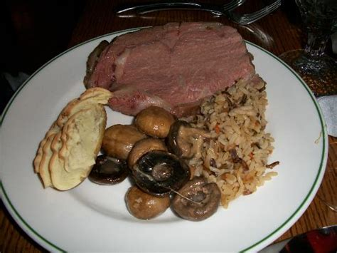 Old Faithful Inn Dining Room Menu Prime Rib From The Dinner Buffet Rare With Wild Rice