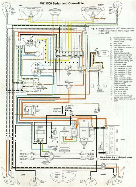 vw beetle wiring diagram  vw beetle
