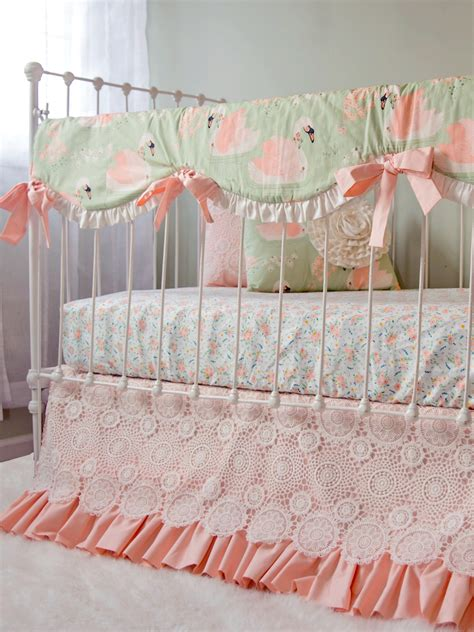 Swan Baby Bedding For An Elegant Vintage Inspired Nursery Vintage Style Crib Bedding