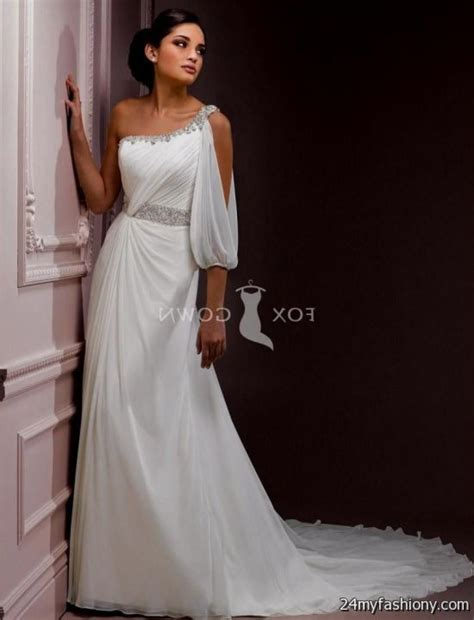 One Shoulder Wedding Dress by Ideas About One Sleeve Wedding Dress Bridal Catalog