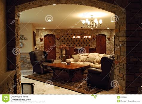luxury home wine cellar stock photos image 5337363