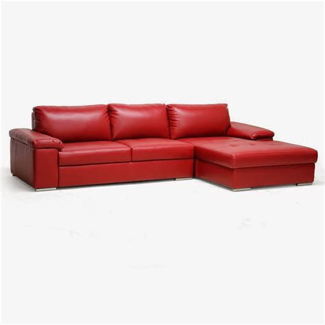 red sectional red couch red leather sectional couch
