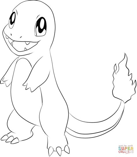 blank coloring pages pokemon charmander coloring page free printable coloring pages