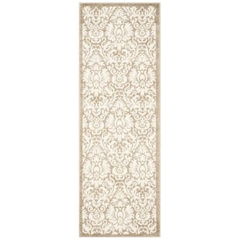 indoor outdoor rug runners safavieh amherst wheat indoor outdoor rug runner 2 3 quot x 7 amt427s 27