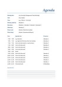 professional meeting agenda template for business meeting