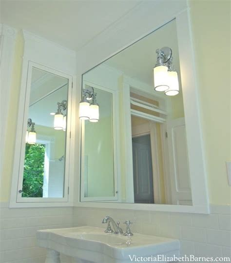 built in medicine cabinet mirror combo bathroom remodel