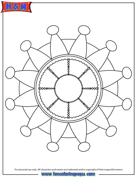 simple pattern colouring pages simple mandala pattern coloring page h m coloring pages