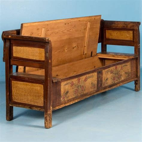 antique storage benches antique 19th century hungarian storage bench with original